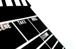 Abstrakta Clapperboard Arkivfoto