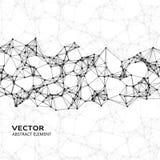 Abstrakta cybernetic partiklar för vit på svart bakgrund Royaltyfri Bild
