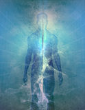 abstrakta człowiek światła Zdjęcie Royalty Free