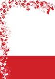 abstrakta czerwony ramowy wektora Fotografia Stock