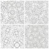abstrakta cztery wzorów bezszwowy set royalty ilustracja