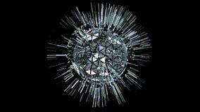 Abstrakta 3 d animacja z siatki geometrią ukazuje się zdjęcie wideo