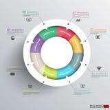 Abstrakta 3D cyfrowy biznesowy diagram Infographic ilustracja wektor
