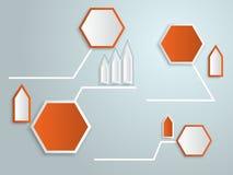 Abstrakta 3d etykietki infographics wektor ilustracja wektor