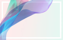 Abstrakta 3D framför illustrationen Flyga vågen för siden- tyg som vinkar royaltyfri illustrationer