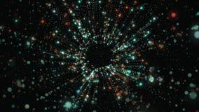 Abstrakta 3D geometryczny tło Geometryczna powierzchnia w ruchu zdjęcie wideo