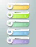 Abstrakta 3d infographic 5 alternativ, infographic affärsidé Arkivfoton