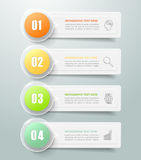Abstrakta 3d infographic 4 alternativ, infographic affärsidé Royaltyfria Bilder