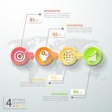 Abstrakta 3d infographic 4 alternativ, infographic affärsidé Fotografering för Bildbyråer