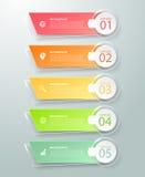 Abstrakta 3d infographic 5 alternativ, infographic affärsidé Royaltyfria Bilder