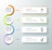 Abstrakta 3d infographic 4 alternativ, infographic affärsidé Arkivfoton