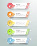 Abstrakta 3d infographic 5 alternativ, infographic affärsidé Royaltyfri Fotografi