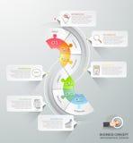 Abstrakta 3d infographic 6 alternativ, infographic affärsidé Royaltyfri Foto