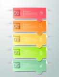 Abstrakta 3d infographic 5 alternativ, infographic affärsidé Royaltyfri Bild