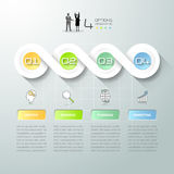 Abstrakta 3d infographic 4 alternativ, infographic mall för affärsidé Arkivbild