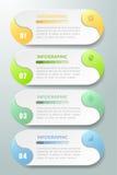Abstrakta 3d infographic 4 alternativ, infographic mall för affärsidé Royaltyfri Fotografi