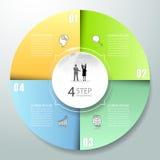 Abstrakta 3d infographic 4 opci, Biznesowy pojęcie infographic Zdjęcie Royalty Free