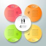 Abstrakta 3d infographic 4 opci, Biznesowy pojęcie infographic Obrazy Royalty Free