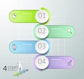 Abstrakta 3d infographic 4 opci, Biznesowy pojęcie infographic Obrazy Stock