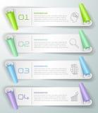 Abstrakta 3d infographic 4 opci, Biznesowy pojęcie infographic Fotografia Stock