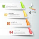 Abstrakta 3d infographic 4 opci, Biznesowy pojęcie infographic Zdjęcia Stock