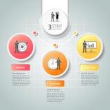 Abstrakta 3d infographic 3 opci, Biznesowy pojęcie infographic Zdjęcia Royalty Free