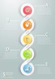Abstrakta 3d infographic 5 opcj, Biznesowy pojęcie infographic Obraz Stock