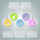 Abstrakta 3d infographic 5 opcj, Biznesowy pojęcie infographic Zdjęcie Stock
