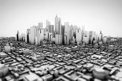 Abstrakta 3d model ogromne miasto Royalty Ilustracja