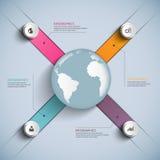 Abstrakta 3D papier Infographic ilustracja wektor