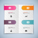 Abstrakta 3D papier Infographic Obrazy Royalty Free