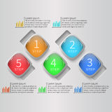 Abstrakta 3D papier Infographics Zdjęcia Royalty Free