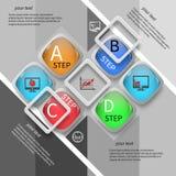Abstrakta 3D papier Infographics Obraz Stock