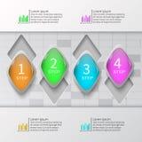 Abstrakta 3D papier Infographics Zdjęcie Royalty Free