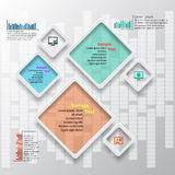 Abstrakta 3D papier Infographics Obrazy Royalty Free
