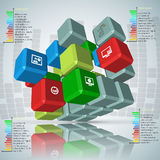 Abstrakta 3D papier Infographics Obrazy Stock