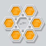Abstrakta 3D papier Infographics Fotografia Royalty Free