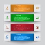 Abstrakta 3D papier Infographics Obraz Royalty Free