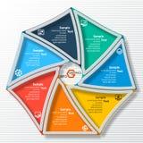 Abstrakta 3D papier Infographics Fotografia Stock