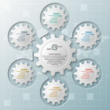 Abstrakta 3D papier Infographics ilustracji