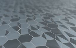 Abstrakta 3d powierzchnia z sześciokątami Obraz Stock