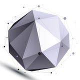 Abstrakta 3D struktury sieci oczodołowy wektorowy przedmiot, skomplikowany Zdjęcia Royalty Free