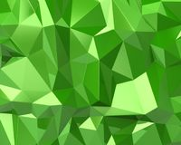 Abstrakta 3d trójboka zielona tekstura Obraz Stock
