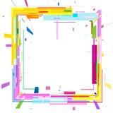 Abstrakta 3D wizerunek barwioni kwadraty na białym tle ilustracja wektor