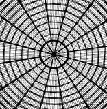 Abstrakta dachowy patrzeć jak pająk sieć zdjęcia stock