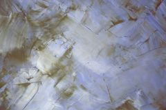 Abstrakta dekorativa tömmer pärlemorfärg bakgrund av gråa lilor med en textur av murbruk Royaltyfri Bild
