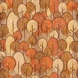 Abstrakta dekorativa träd - sömlös bakgrund - Carpathian alm Arkivfoto