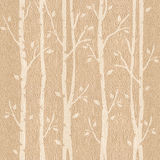 Abstrakta dekorativa träd - sömlös bakgrund - trä för vit ek Arkivbilder