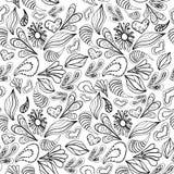 Abstrakta deseniowy czarny kontur na bielu Fotografia Royalty Free