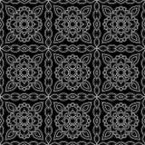 Abstrakta deseniowy czerń i whit doodle Obraz Stock